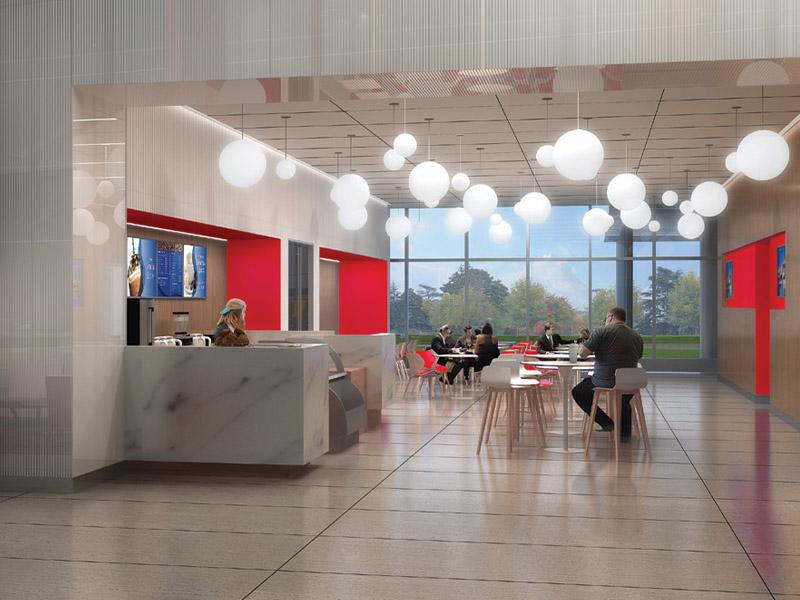 Dow Corporate Center cafeteria