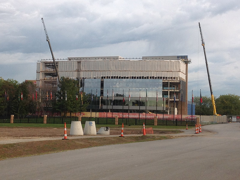 Dow Corporate Center construction