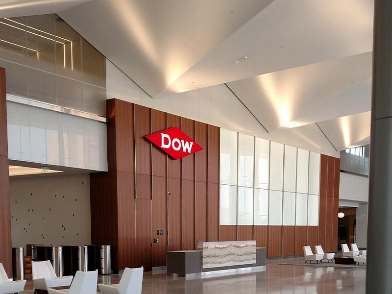 Dow Corporate Center interior lighting