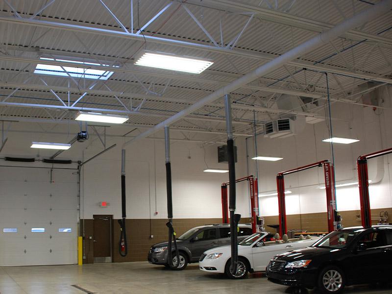 Zeigler Auto Group Shop Lighting