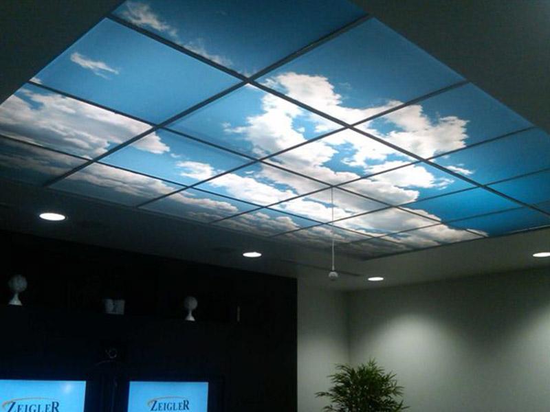 Zeigler Auto Group ceiling scenery lights