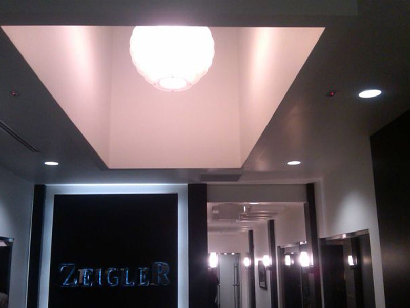 Zeigler Auto Group interior hanging lights